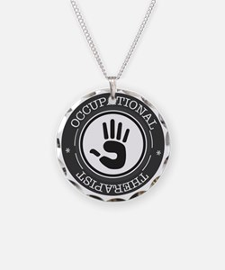 Occupational Therapist Hand Necklace Circle Charm
