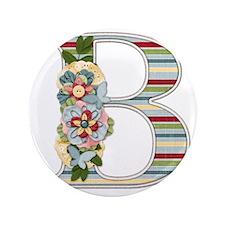 "Monogram Letter B 3.5"" Button"