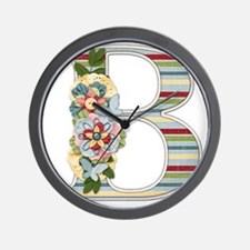 Monogram Letter B Wall Clock