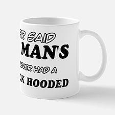 Fancy Black Hooded Designs Mug