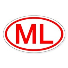 ML Oval (Red) Oval Decal