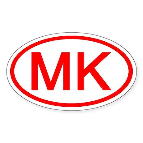 MK Oval (Red) Oval Sticker