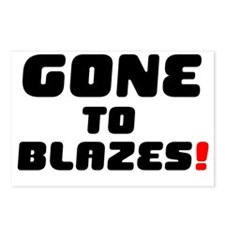 GONE TO BLAZES! Postcards (Package of 8)