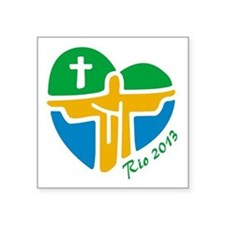"World Youth Day Square Sticker 3"" x 3"""