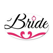Bride Oval Car Magnet
