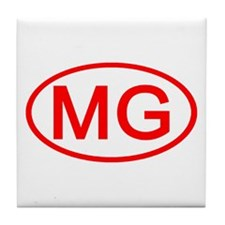 MG Oval (Red) Tile Coaster