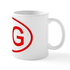 MG Oval (Red) Mug