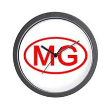 MG Oval (Red) Wall Clock