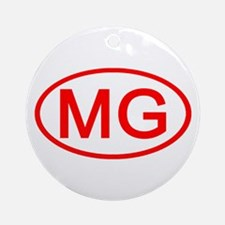 MG Oval (Red) Ornament (Round)