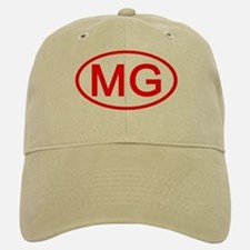MG Oval (Red) Baseball Baseball Cap