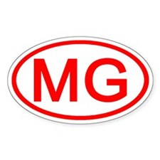 MG Oval (Red) Oval Decal