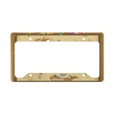 World Map For Kids - Earth To License Plate Holder
