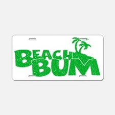 Green Beach Bum Aluminum License Plate