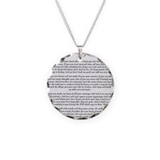 Graduation Baccalaureate IF  Necklace