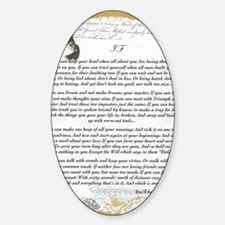 Graduation Baccalaureate IF by Rudy Sticker (Oval)