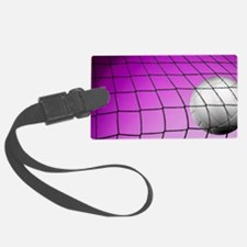 Purple Volleyball Net Luggage Tag
