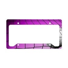 Purple Volleyball Net License Plate Holder