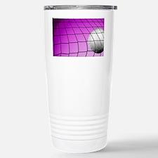Purple Volleyball Net Travel Mug