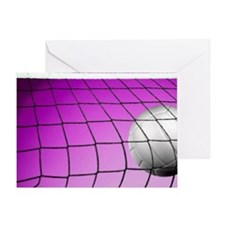 Purple Volleyball Net Greeting Card