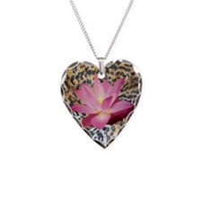 Leopard Lotus Necklace
