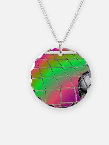 Rainbow Volleyball  Net Necklace
