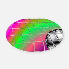 Rainbow Volleyball  Net Oval Car Magnet