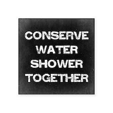 """Conserve Water Square Sticker 3"""" x 3"""""""