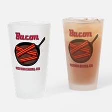 Bacon Cast Iron Skillet USA Drinking Glass