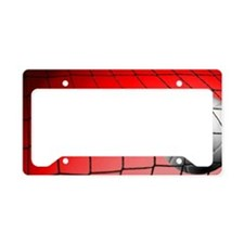 Red Volleyball  Net License Plate Holder