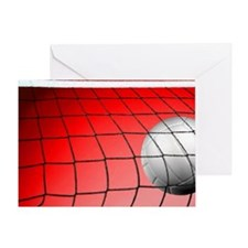 Red Volleyball  Net Greeting Card