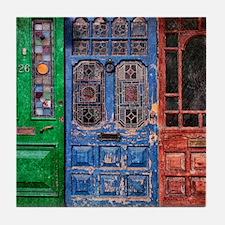 Old Doors Tile Coaster