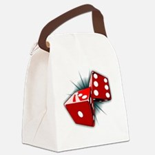 Dice Pair Canvas Lunch Bag