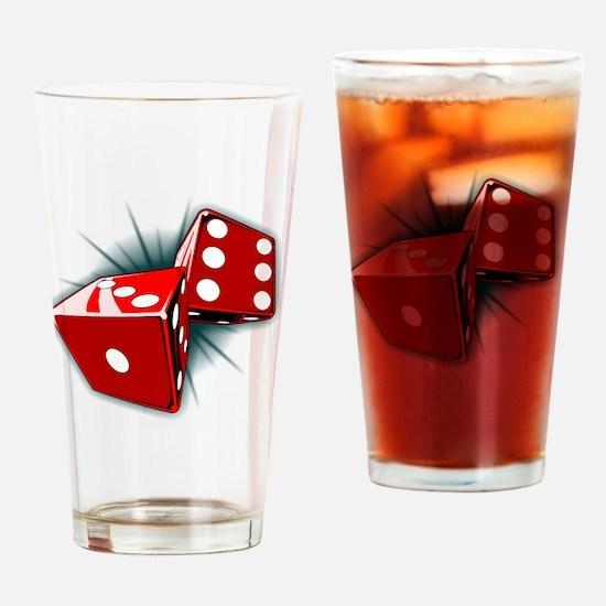Dice Pair Drinking Glass