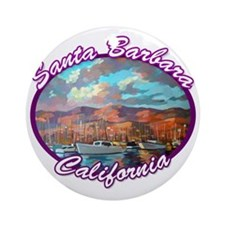 Santa Barbara Round Ornament