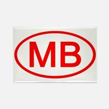 MB Oval (Red) Rectangle Magnet