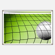 Green Volleyball  Net Banner