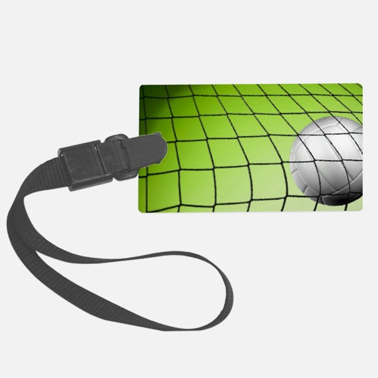 Green Volleyball  Net Luggage Tag