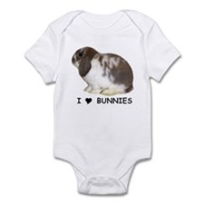"""I love bunnies 1"" Infant Bodysuit"