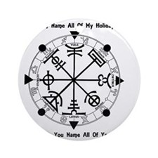 Pagan Wheel of the Year T-Shirt Round Ornament