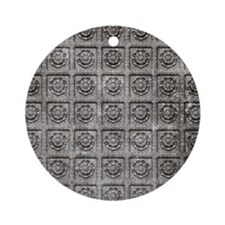 Old Tiles Round Ornament