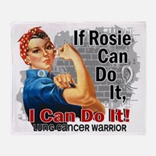 D If Rosie Can Do It Lung Cancer War Throw Blanket