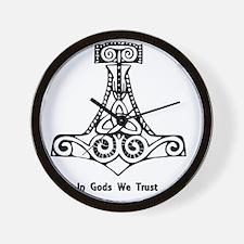 In Gods We Trust Wall Clock