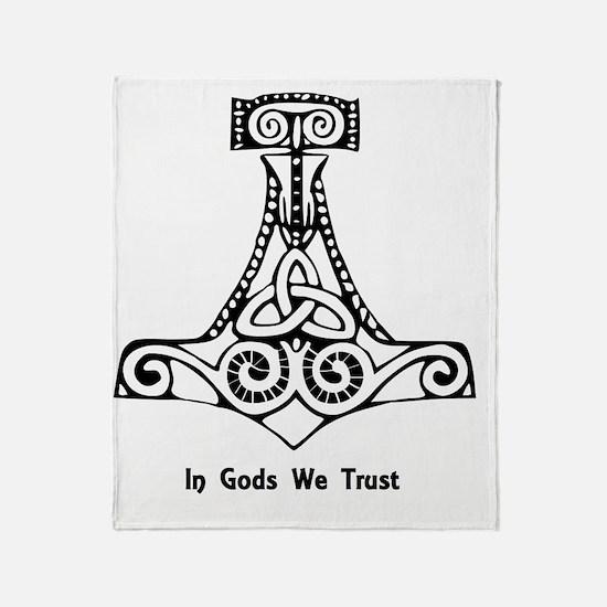 In Gods We Trust Throw Blanket
