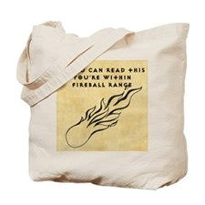 Fireball range Tote Bag