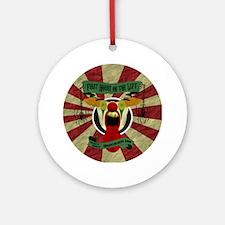 Scary Clown Logo Round Ornament