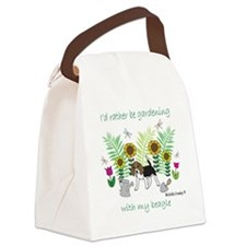 id rather be gardening with my do Canvas Lunch Bag