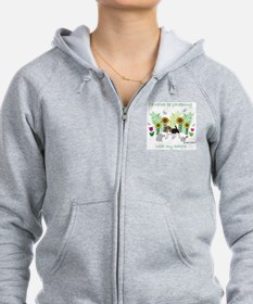 id rather be gardening with my  Zip Hoodie