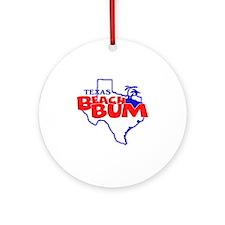 Texas Beach Bum Round Ornament