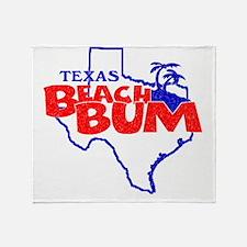 Texas Beach Bum Throw Blanket