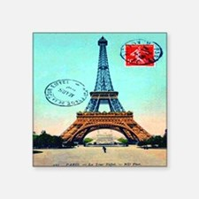 """Vintage French Eiffel Tower Square Sticker 3"""" x 3"""""""
